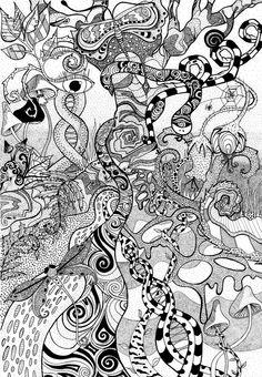 Psychedelic Dot Forest by Faeriegem.deviantart.com on @deviantART