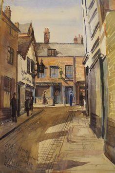 Painting of Nottingham 1942 by L Allsop. Fletcher Gate Gallery