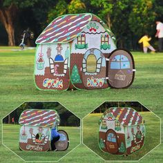 Best Gingerbread House Kits   Christmas 2020   Goldilocks Effect Best Gingerbread House Kit, Cardboard Gingerbread House, Cool Gingerbread Houses, Boys Playhouse, Playhouse Outdoor, Classic Holiday Movies, Pop Up Play, Kids Pop, Kids Tents