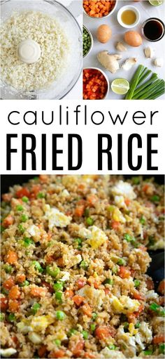 Lower Excess Fat Rooster Recipes That Basically Prime Cauliflower Fried Rice Recipe For This Recipe And More Visit, Via Theforkedspoon Cauliflower Fried Rice, Cauliflower Recipes, Clean Eating Snacks, Healthy Eating, Healthy Food, Rice Recipes, Healthy Recipes, Keto Recipes, Dinner Recipes