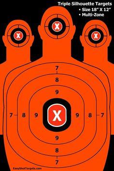 "Gun Pistol Rifle Shooting Targets Silhouette 25 Pack 18""x12"" 150 Repair Stickers"