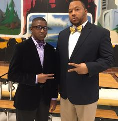 Father and son working that #P5Neckwear bowtie and ascot! This is fire Hot! #bowtieitup #fundraiser #makeadifference #bearolemodel