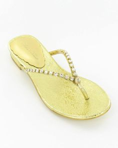 Every princess needs rhinestone flip flops for after the prom. $50