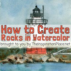 Art Blog for Creative Living: Watercolor Wednesdays: How to Create Rock Textures