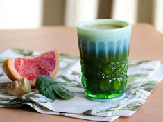 Green Grapefruit Ginger Juice #recipe