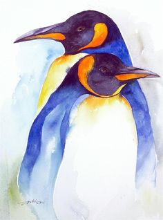"""Chums_Penguins"" original fine art by Arti Chauhan"