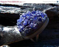 30 OFF SALE druzy statement ring violet blue druzy by BeijoFlor, $62.30