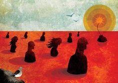 Mo Magazine On Violence Freelance Illustrator, Vikings, Illustrators, Digital Art, Let It Be, Artist, Poster, Painting, Flow