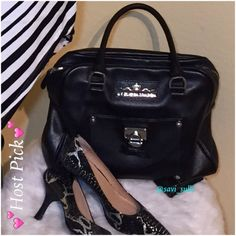 Brighton Leather Purse  HP  My Flat in London leather purse. Well taken care of and loved. Inside consist of 2 side pockets for cell phone or easy reach items and a zipper pocket and key holder. Outside detail has side zipper in the back and the front has a magnetic closure pocket with an adorable bow and lock detail. This purse is registered and can be brought to any Brighton store for complimentary exterior cleaning and conditioning anytime. Comes with dust bag and adorable purse scarf. No…