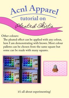 Here's the pleated skirt tutorial as requested! I'm still working on the flared skirt one. The method is simple so just play around with colours until you make your desired dress! :)