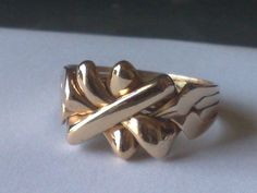 4 Band Bronze King Puzzle Ring - Sizes 4-11 #Dimenticare #Band
