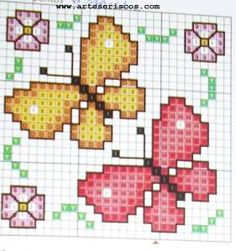 Thrilling Designing Your Own Cross Stitch Embroidery Patterns Ideas. Exhilarating Designing Your Own Cross Stitch Embroidery Patterns Ideas. Tiny Cross Stitch, Butterfly Cross Stitch, Cross Stitch Cards, Cross Stitch Animals, Cross Stitch Flowers, Cross Stitch Designs, Cross Stitching, Cross Stitch Embroidery, Embroidery Patterns