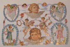 German Victorian Valentines day angels cupids by TheWisdomTree