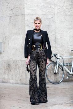 Black Luxe Brazilian it-girl Lala Rudge in an all black luxe look. Photo: Daniel Troyse Fashion By Caroline's Mode