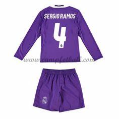 Fotballdrakter Barn Real Madrid 2016-17 Sergio Ramos 4 Borte Draktsett Langermet