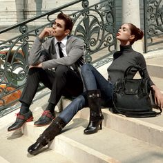 Sean O'Pry & Coco Rocha in Cole Haan for Americana Manhasset lookbook F/W 2011 🍂🥀🍂