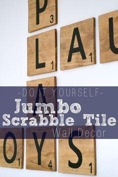 Bourne Southern | The Blog: DIY Jumbo Scrabble Tile Wall Decor