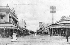 Australian Postcard - Bazaar Street Maryborough QLD -- Antique Price Guide Details Page Glasshouse Mountains, Paranormal Romance Series, Historical Society, Time Travel, Perfect Place, Past, Louvre, Street View, Australia