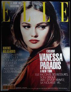 French Elle Magazine August 1992 Vanessa Paradis Lenny Kravitz Karen Mulder fash