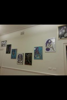 Laura' aan de muur@outsider art galerie amsterdam