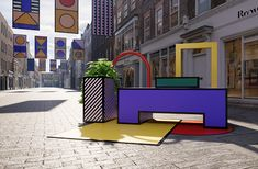 """Camille Walala to turn Mayfair street into an """"open-air living room"""" for London Design Festival Urban Furniture, Street Furniture, Pvc Furniture, Furniture Outlet, Furniture Plans, Discount Furniture, Citizenm London, Camille Walala, Sony Design"""