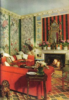 The work of Edward Zajac and Richard Callahan in this Paris apartment, in 1971.