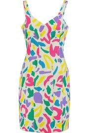 MoschinoPrinted matelassé silk mini dress