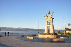 19/02/15: El Monumento a Juan de la Cosa a la luz el amanecer