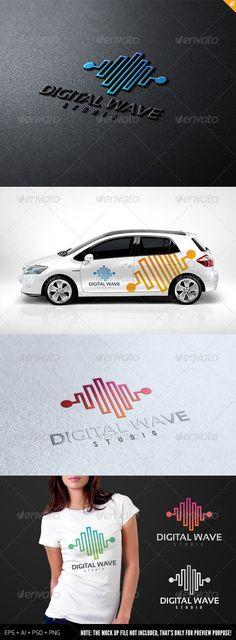 Digital Wave Studio - Logo Design Template Vector #logotype Download it here: http://graphicriver.net/item/digital-wave-studio-logo/7087099?s_rank=785?ref=nesto
