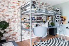 Do you know how to install faux brick paneling? Easy and you can create dramatic walls in your home! Brick Wall Paneling, Faux Brick Panels, Bunk Beds For Boys Room, Boy Rooms, Dream Teen Bedrooms, Backyard Seating, Diy Home Repair, Boys Bedroom Decor, New Homes