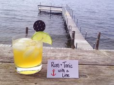 Mount Gay Rum and Tonic