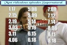 Most ridiculous episodes Supernatural