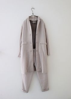 라르니에 정원 LARNIE Vintage&Zakka Fasion, Fashion Outfits, Fashion Ideas, Duster Coat, Ootd, Nice Things, Chic, My Style, Jackets