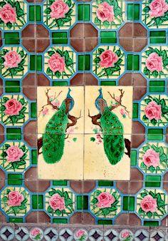 We who heart peacocks, tiles.