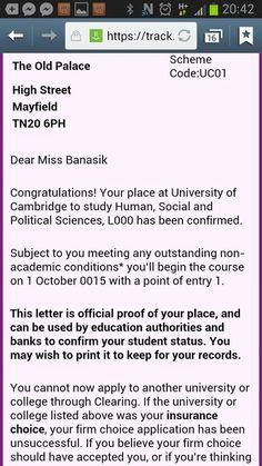 Nasza Ambasadorka - Asia Banasik, od wrzesnia rozpocznie studia na Cambridge!