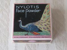 Vintage Nylotis Face Powder Box Sealed with Powder by KISoriginals, $95.00