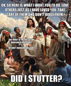 As a Christian who supports gays.