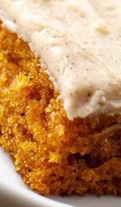 Pumpkin Sheet Cake - Pumpkin Recipes Our pumpkin sheet cake with brown butter frosting is loaded with sweet, rich flavor. Fall Desserts, Just Desserts, Dessert Recipes, Frosting Recipes, Health Desserts, Brunch Recipes, Thanksgiving Desserts, Dinner Recipes, Health Foods