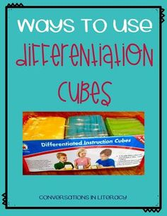 Using Differentiation Cubes in the classroom!