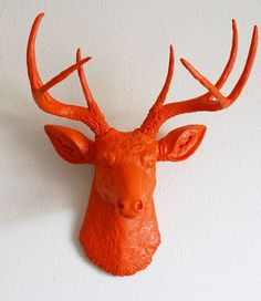 How awesome would this be in Chris's Office: http://www.etsy.com/listing/77956822/orange-deer-head-wall-mount