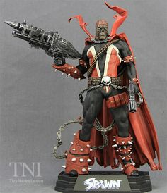"""McFarlane Toys Color Tops 7"""" TRU Exclusive """"Hamburgerhead"""" Spawn Rebirth Figure Video Review & Images Spawn Toys, Marvel Statues, Todd Mcfarlane, Art Model, Fan Fiction, Latest Movies, Marvel Universe, Sketching, Monsters"""