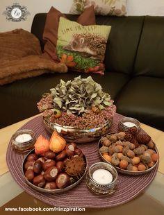 Orchidee mit fette henne moos und hortensien dekoriert herbst - Herbstdeko mit erika ...