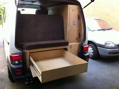 Rear pull out draw style kitchen on rails? – Page 3 – VW Forum – VW Forum Rear pull out draw style kitchen on rails? – Page 3 – VW Forum – VW Forum T4 Camper, Mini Camper, Camper Life, Truck Camper, Vw T5, Volkswagen, Vw Conversions, Camper Conversion, Van Interior