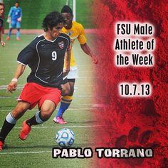 Pable Torrano is FSU Male Athlete of the Week! Thanks for the post @frostburgsports #instafrostburg