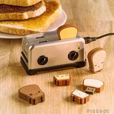 33 Desk Accessories That Will Make Your Day Better | Toast Flash Drives | $20
