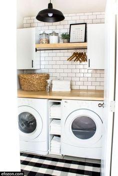 Rustic Laundry Rooms, Farmhouse Laundry Room, Small Laundry Rooms, Laundry Room Organization, Laundry Room Design, Laundry Decor, Laundry Room Remodel, Laundry Room Sink, Laundry Area