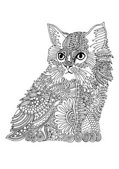 Tiger Adult Coloring Page Zentangle Doodle By ColoringPageExpress