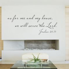 16x34 Medium  Scripture Wall Decal  As for me and my by WallsMore, $19.00