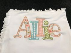 Baby Pillows, Kids Pillows, Initial Pillow, Applique Pillows, Personalized Baby Blankets, Pink Elephant, Baby Toys, Color Schemes, 2 Ply