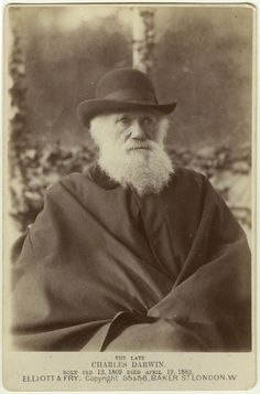 Charles Darwin photograph by Elliott and Fry, 29 November, Charles Darwin, Robert Darwin, Famous Men, Famous People, David Livingstone, Save Nature, Thing 1, National Portrait Gallery, Modern History